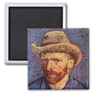 フィンセント・ファン・ゴッホ-フェルトの帽子との自画像 マグネット