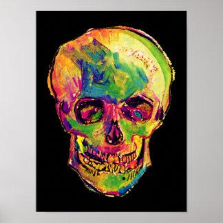 フィンセント・ファン・ゴッホ-ポップアートのハロウィンのスカル ポスター