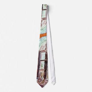 フィンセント・ファン・ゴッホ-ヴィンチェンツォのスタジオの窓 ネクタイ