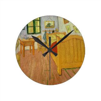 フィンセント・ファン・ゴッホ|寝室1888年 ラウンド壁時計