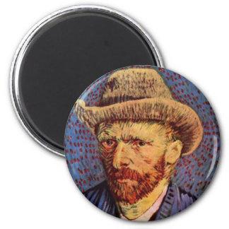 フィンセント・ファン・ゴッホ-帽子との自画像 マグネット