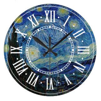 フィンセント・ファン・ゴッホ-星明かりの夜|最高傑作 ラージ壁時計