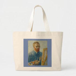 フィンセント・ファン・ゴッホ-芸術家の自画像のトート ラージトートバッグ
