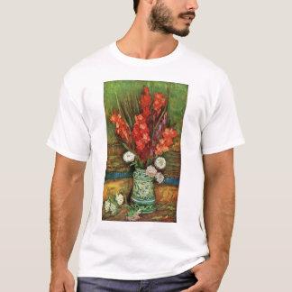 フィンセント・ファン・ゴッホ-赤いグラジオラスを搭載するつぼ Tシャツ