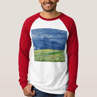 フィンセント・ファン・ゴッホ-雷雲の下のWheatfield Tシャツ