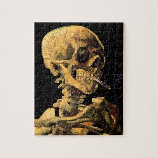 フィンセント・ファン・ゴッホ-非常に熱いタバコが付いているスカル ジグソーパズル