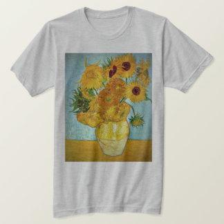 フィンセント・ファン・ゴッホ- 12のヒマワリが付いているつぼ Tシャツ