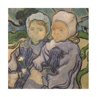 フィンセント・ファン・ゴッホ| 2人の小さな女の子1890年 ウッドウォールアート