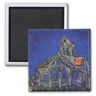フィンセント・ファン・ゴッホ- Auvers-sur-Oiseの教会 マグネット