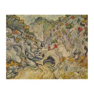 フィンセント・ファン・ゴッホ  Peyrouletsの峡谷 ウッドウォールアート