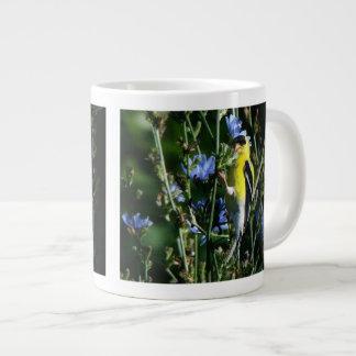 フィンチによってはジャンボマグが開花します ジャンボコーヒーマグカップ