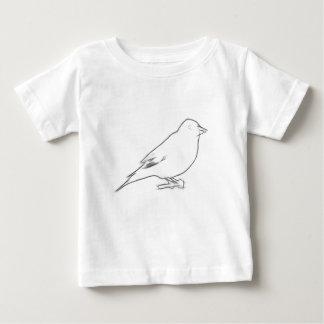 フィンチのスケッチ ベビーTシャツ