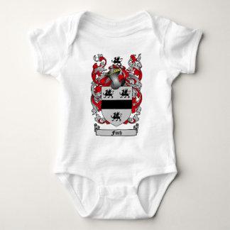 フィンチの家紋-フィンチの紋章付き外衣 ベビーボディスーツ