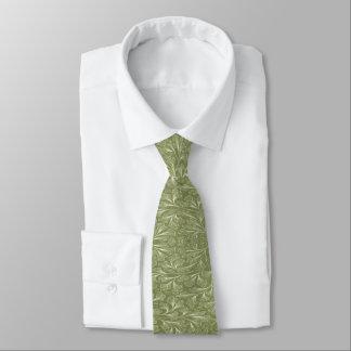 フィンチの緑のイチョウのbilobaの葉 ネクタイ