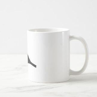 フィンチの鳥のシルエット コーヒーマグカップ