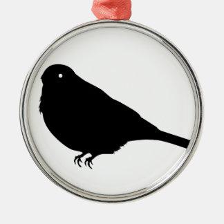 フィンチの鳥のシルエット メタルオーナメント