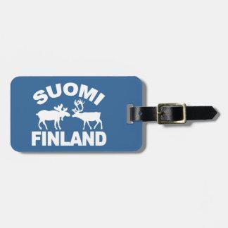 フィンランドのアメリカヘラジカ及びトナカイのカスタムな荷物のラベル ラゲッジタグ