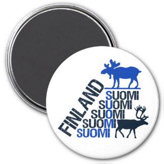 フィンランドのアメリカヘラジカ及びトナカイの磁石 マグネット