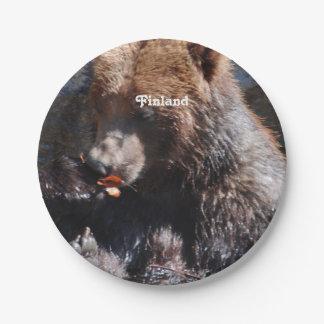 フィンランドのヒグマ ペーパープレート