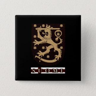 フィンランドのライオン 5.1CM 正方形バッジ
