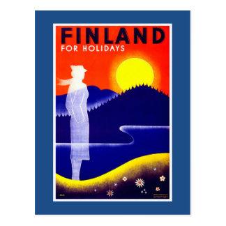 フィンランドのヴィンテージ旅行ポスター ポストカード