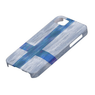 フィンランドの動揺してなフィンランドの旗 iPhone SE/5/5s ケース