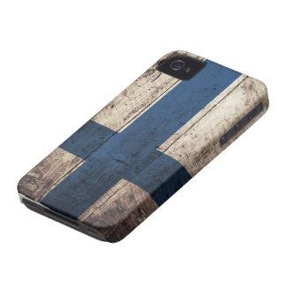 フィンランドの古い木の旗 Case-Mate iPhone 4 ケース