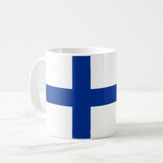 フィンランドの国旗の長い記号 コーヒーマグカップ