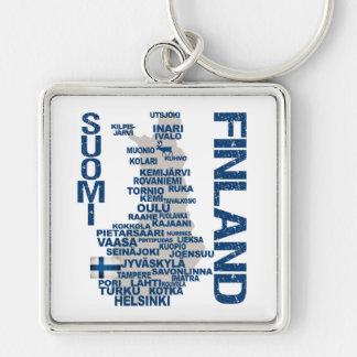 フィンランドの地図のキーホルダー キーホルダー