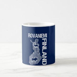 フィンランドの地図のマグ- Rovaniemi -スタイル、色を選んで下さい コーヒーマグカップ