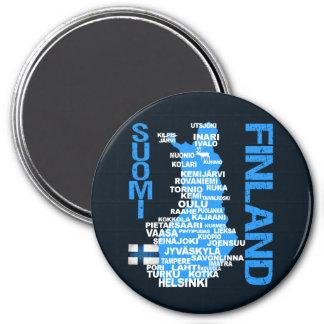 フィンランドの地図の磁石 マグネット