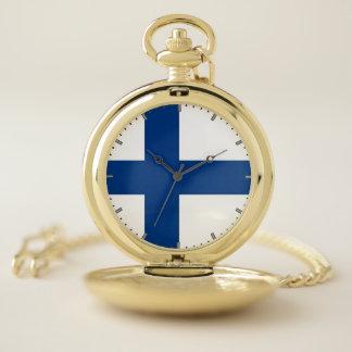 フィンランドの愛国心が強い壊中時計の旗 ポケットウォッチ