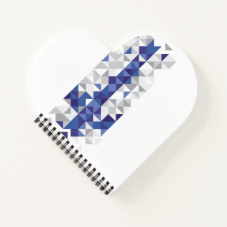 フィンランドの抽象的な旗、フィンランド色 ノートブック