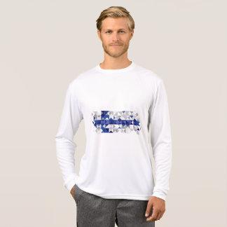 フィンランドの抽象的な旗、フィンランド色 Tシャツ