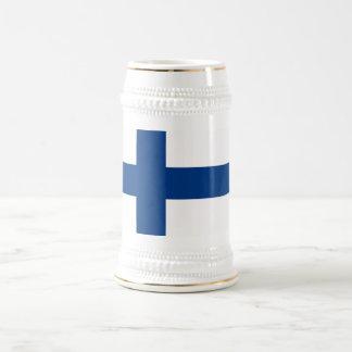 フィンランドの旗が付いているマグ ビールジョッキ