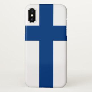 フィンランドの旗との光沢のあるiPhoneの場合 iPhone X ケース