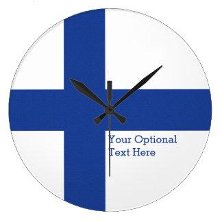 フィンランドの旗のカスタムな柱時計 ラージ壁時計