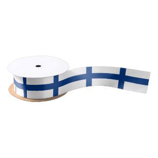 フィンランドの旗のリボン サテンリボン