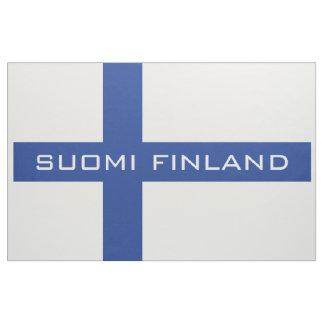フィンランドの旗の習慣の生地 ファブリック
