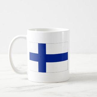 フィンランドの旗の~の地図のマグ コーヒーマグカップ