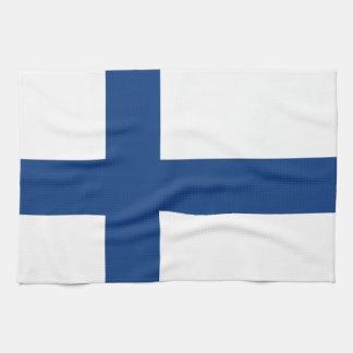 フィンランドの旗 キッチンタオル