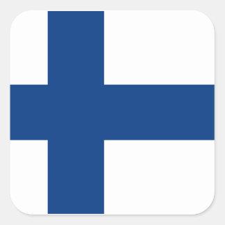 フィンランドの旗 スクエアシール