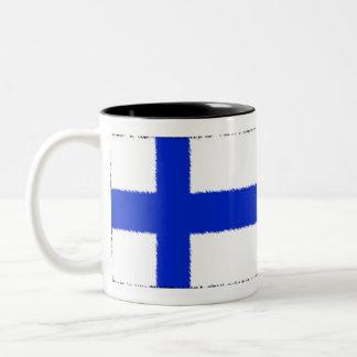 フィンランドの旗 ツートーンマグカップ