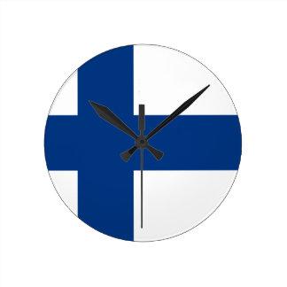 フィンランドの旗 ラウンド壁時計