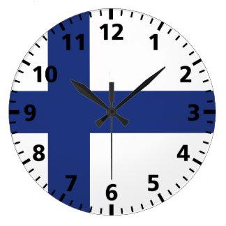 フィンランドの旗 ラージ壁時計