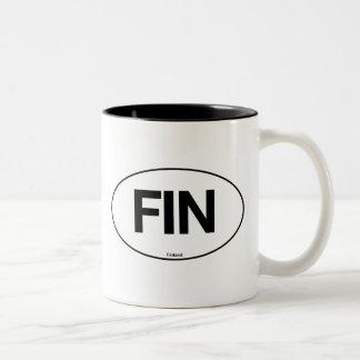 フィンランドの楕円形 ツートーンマグカップ