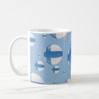 フィンランドの泡旗 コーヒーマグカップ
