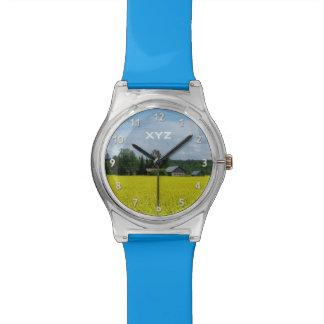 フィンランドの田舎カスタムなモノグラムの腕時計 腕時計