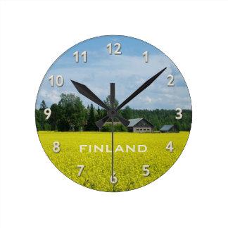 フィンランドの田舎カスタムな柱時計 ラウンド壁時計