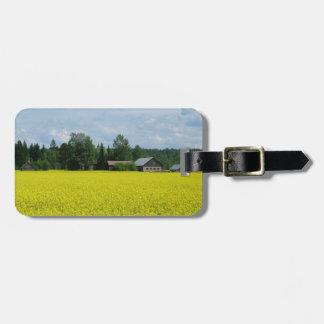 フィンランドの田舎カスタムな荷物のラベル ラゲッジタグ